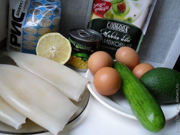 Кальмары Чистим Варим  кулинарный рецепт