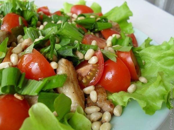Салат с кедровым орехом рецепт с