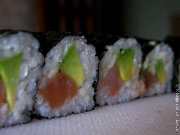 фото готовки суши