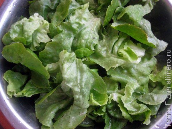 Салат с чипсами из лаваша