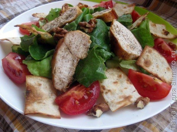 Салат с чипсами из лаваша рецепт