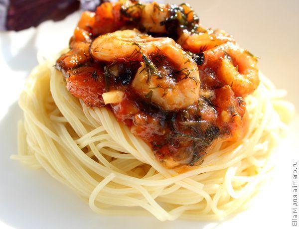 паста из морепродуктов рецепт с фото