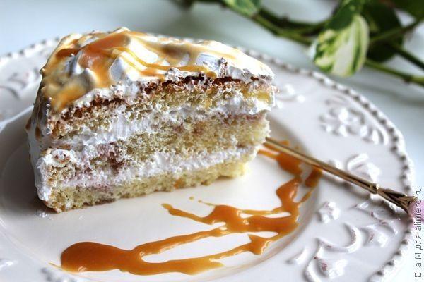 Бисквитный торт простой и вкусный рецепт