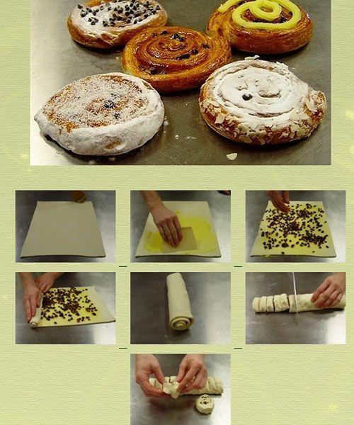 Классический вариант приготовления слоек. Можно делать их как с начинкой, так и без, просто присыпав сахаром и корицей.
