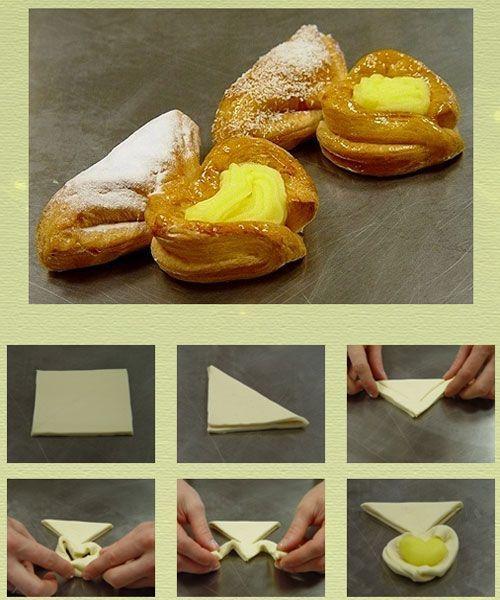 Мне очень понравились такие сердечки! Представляете, как обрадуется ваш любимый человек, если подать ему такие слойки к завтраку?
