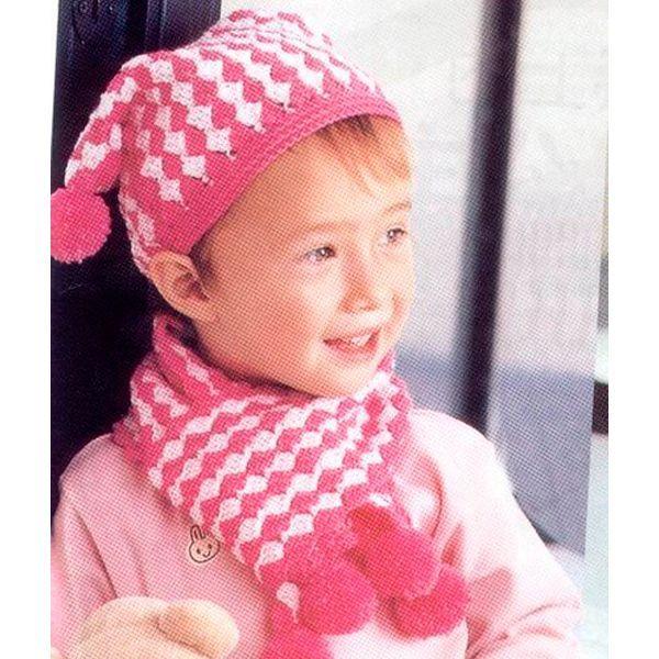 Очень милая шапочка, которая подойдет как девочке, так и мальчику. В комплект можно связать также шарфик.