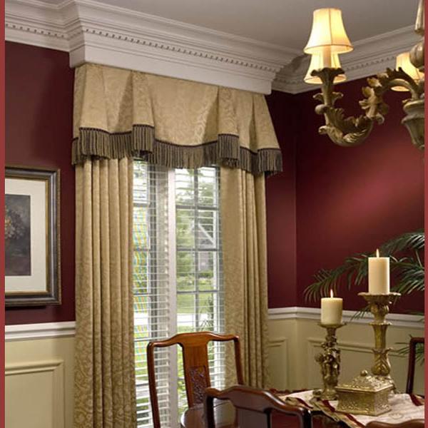 Такие шторы подойдут к интерьеру в классическом стиле или стиле ампир. Очень удачное сочетание цвета штор и стен.