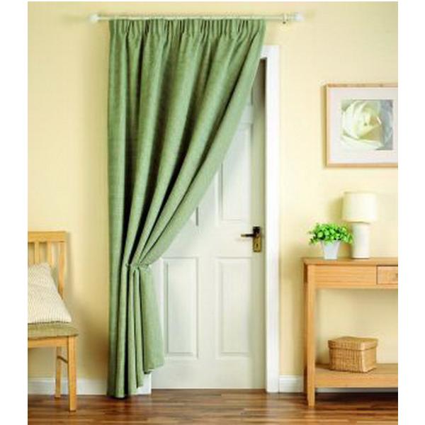 Еще один вариант, который подойдет для жилых помещений. Это самый простой вариант пошива штор.
