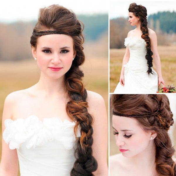 прически с косами на свадьбу невесте