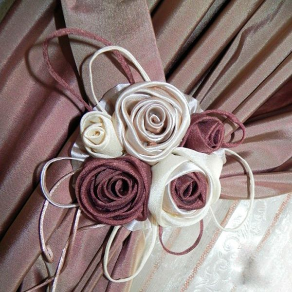 Цветы для штор своими руками фото