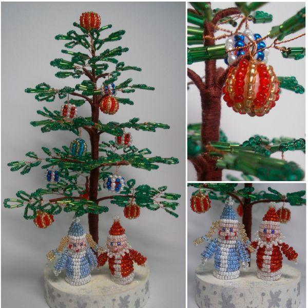 Рождественское дерево праздник из бисера своими руками (фото)