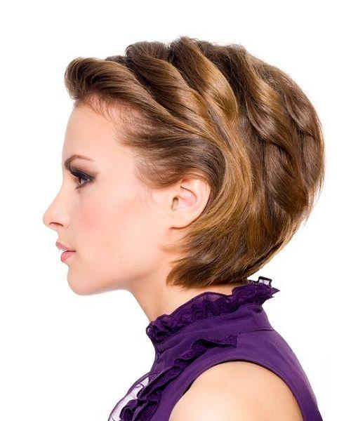 Женские прически на средние волосы на новый год