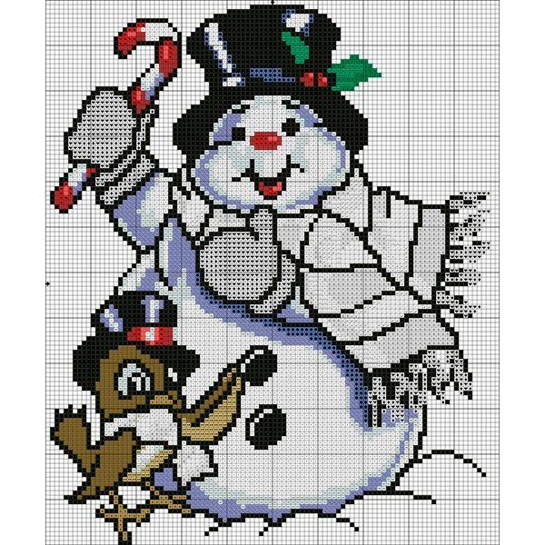 Картиной с изображением яркого веселого снеговика можно украсить детскую комнату. Ребятишки будут в восторге!