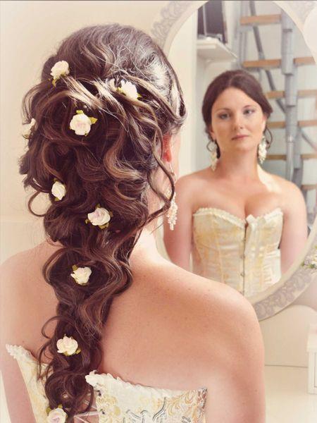 прически на свадьбу на длинные волосы для гостей