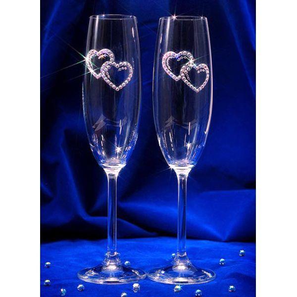 Как оформить свадебный бокалы своими руками