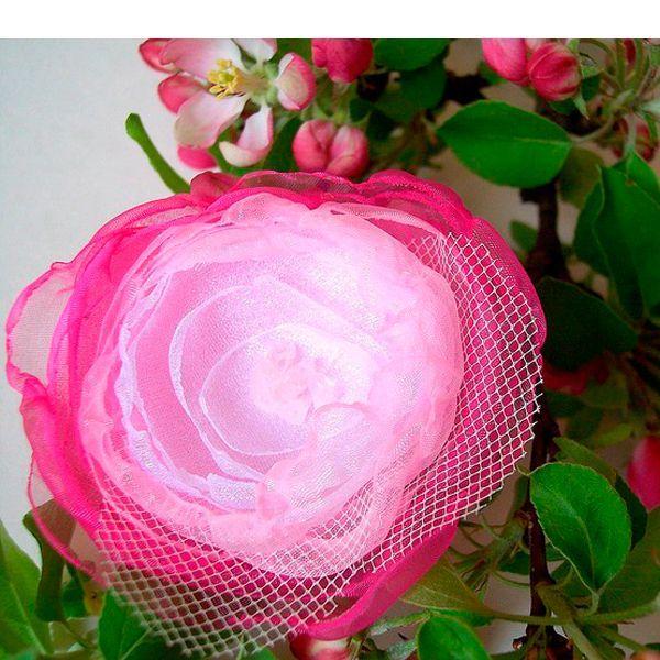 Шаблон цветок из органзы своими руками