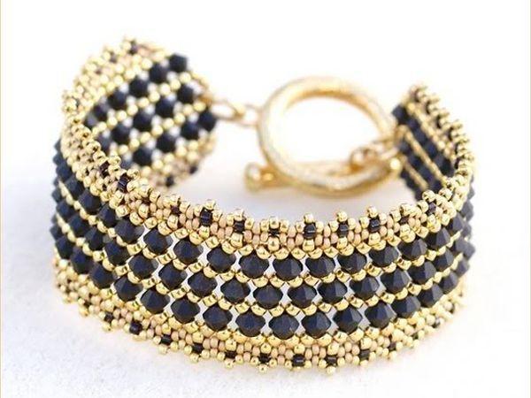 Бисерные браслеты своими руками фото 278