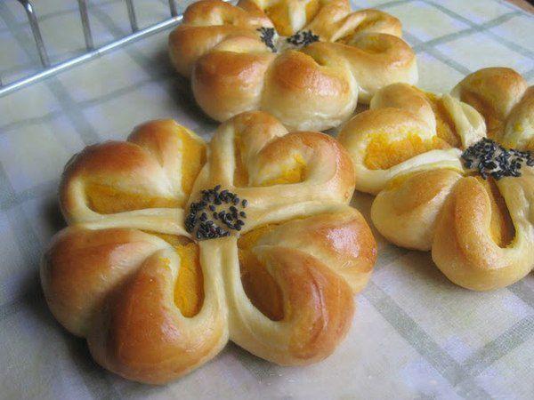 красивая форма булочек из дрожжевого теста