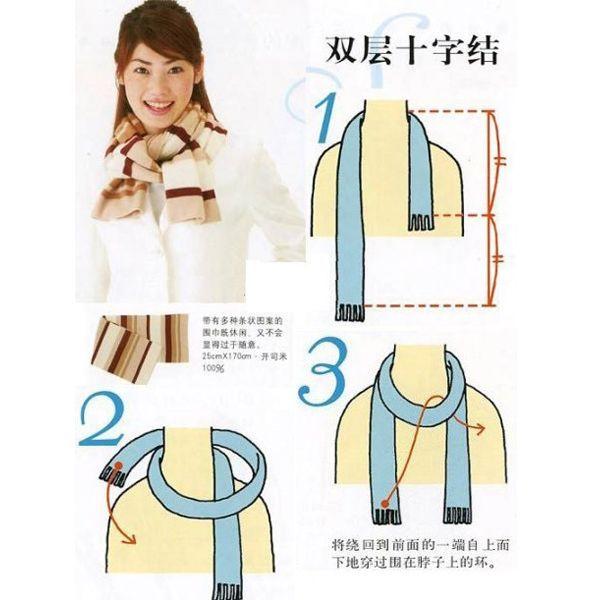 Если у вас узкие плечи, но достаточно объемные бедра (грушевидная фигура), то остановите свой выбор на объемном шарфе.