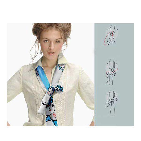 Если хотите купить пестрый шарф или платок, выберите тот, в котором присутствует цвет одежды, с которой он будет носится.