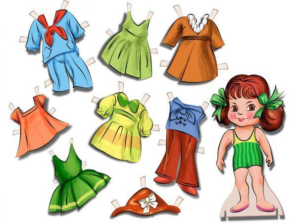 Бумажная кукла с красивыми нарядами для вырезания. Распечатайте и вырежьте куколку с комплектом платьев - подарите  праздник маленькой принцессе!