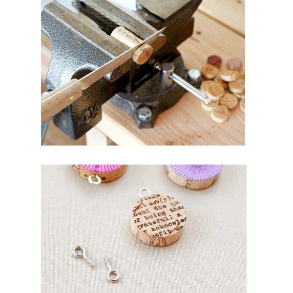 Для того, чтобы подвески получились ровными, разрезать пробки необходимо очень аккуратно. Для этого подойдет острый нож.