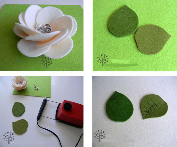 Теперь с помощью иголки с ниткой присборим с одной стороны кружок (ка на фото), стянем и закрепим нить. Сложите веером сначала 6-7 лепестков и замкните в круг, переверните цветок и закрепите иголкой с ниткой, затем добавьте следующий ряд и закрепите весь цветок.