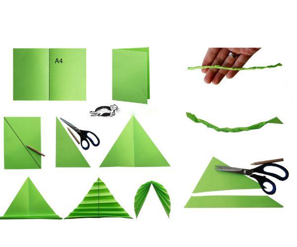 На этом изображении представлена схема овального листа. Следуя ей, у вас без усилий получится такой осенний листок.