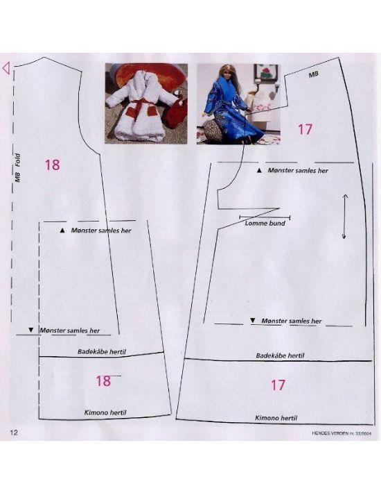 Как видите, выкройка халата достаточно проста. На его пошив у вас не уйдет много времени, поскольку деталей не много.