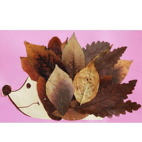 Совместное творчество сближает. Нарисуйте контур ежика и предложите малышу вместо иголок наклеить листья. Таким образом можно делать аппликации на различные сюжеты.