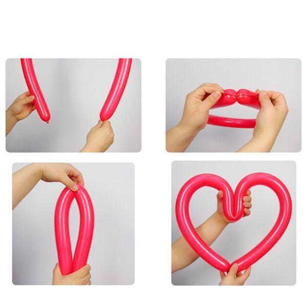 Сердце из воздушного шарика - самая простая фигура. Для ее создания понадобится всего один шар и минимум навыков.