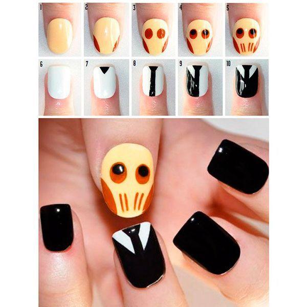 Хотите необычный маникюр на Хэллоуин? И чтобы все, как полагается, черного цвета, с черепом? Тогда вам определенно подойдет эта идея маникюра в стиле Доктора Кто.