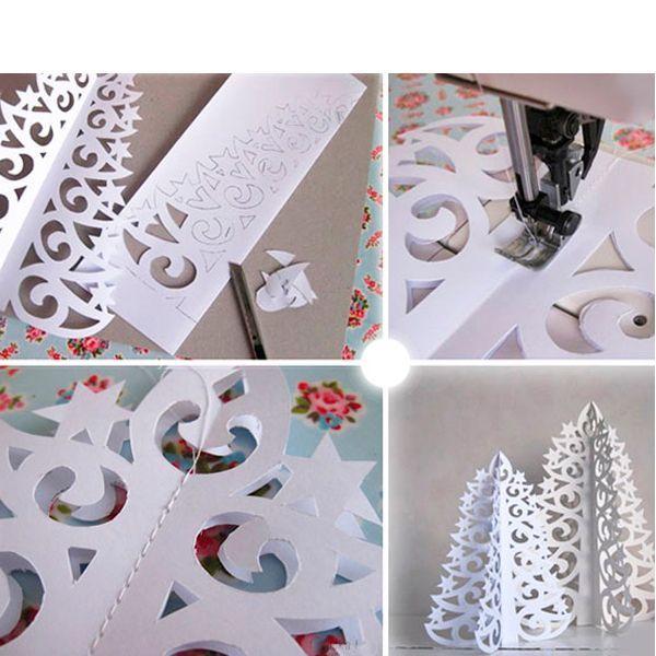Для того, чтобы сделать бумажную елку своими руками, необходимо распечатать шаблон и вырезать его острыми маникюрными ножницами. Нам понадобятся две одинаковые заготовки, которые необходимо соединить между собой.