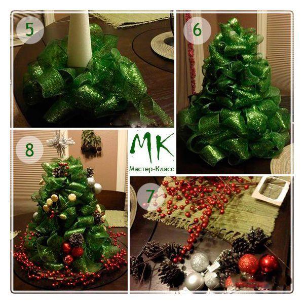 Когда наша зеленая елочка-красавица готова – украшаем ее елочными шариками и другим новогодним декором.