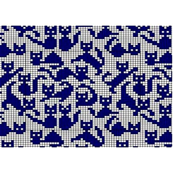 Затем, глядя на узор, отмечайте на бумаге крестиками или точечками лицевые петли лицевых рядов, обозначая каждый оттенок пряжи отдельным значком или цветными карандашами (фломастерами). Изнаночные ряды на схеме не нужны, т.к. их провязывание осуществляется согласно рисунку на полотне.