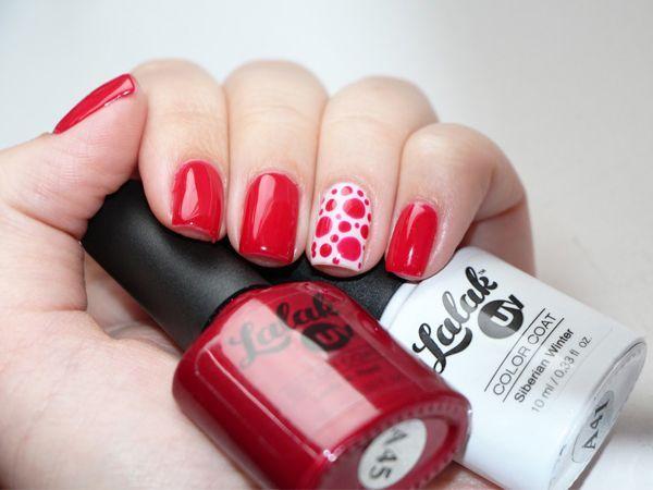 Красный и белый - еще одно сочетание, которое можно назвать классическим. Горох разного диаметра смотрится потрясающе!