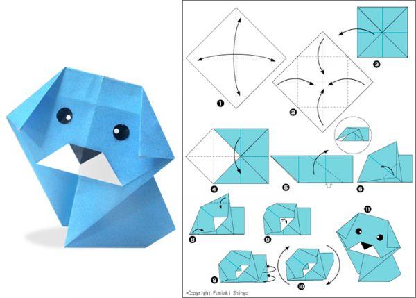 Кошелек оригами для детей схема
