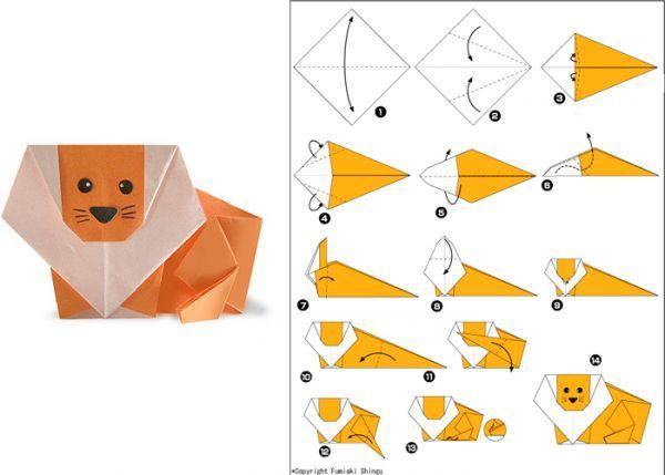 Животные в технике оригами