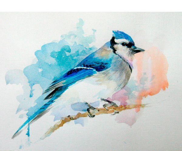 Учитывая отсутствие белой краски в акварели, начинать рисовать нужно с продумывания,какие части картины будут белого цвета. Их необходимо оставить не закрашенными.