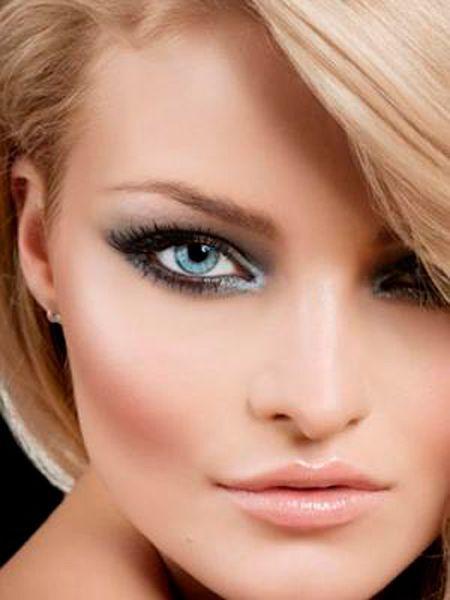Смуглый оттенок кожи позволяет блондинкам осторожно использовать черный цвет контурного карандаша и туши для глаз. Однако при этом следует все-таки учитывать оттенок кожи и цвет глаз.