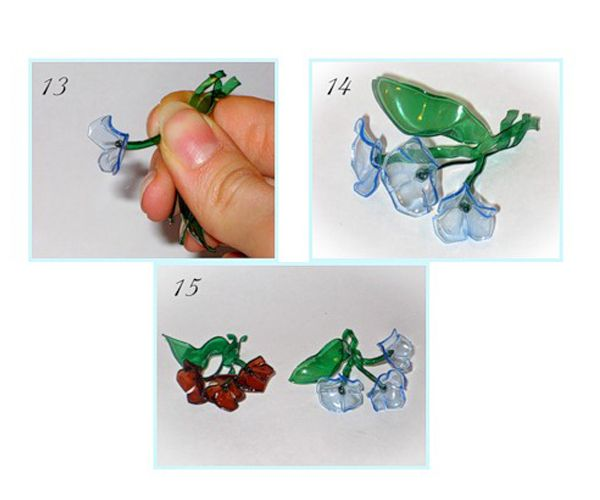 Сформируйте цветок. Такую композицию можно использовать в качестве брошки.