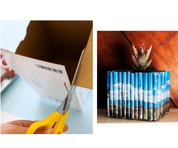 Бумажные трубочки приклейте к коробке. Они должны быть одинаковой длины. Карандашница готова!