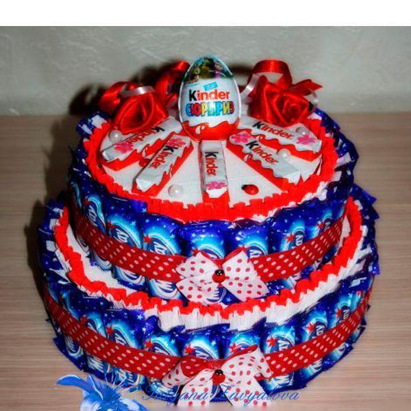 Детские торты своими руками из конфет