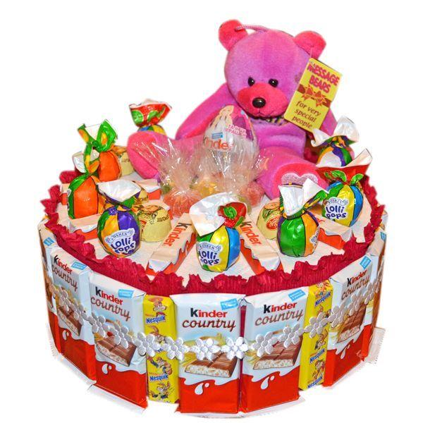 339Торт из конфет своими руками на день рождения ребенка видео