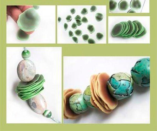 Нужно сделать отверстия и запечь бусинки. Их можно использовать для браслетов, бус и других изделий.