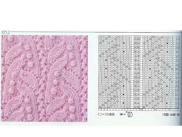 Оригинальные узоры вязания спицами - 25 схем