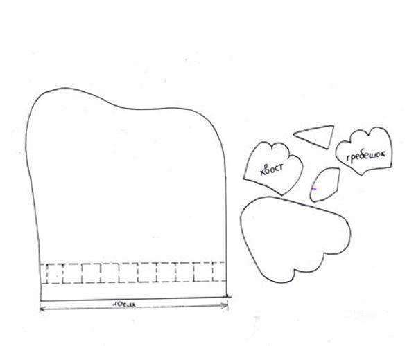 Необходимые материалы:  фетр, 2 пуговицы, бусины или пуговицы, тесьма для завязок, ножницы, игла.