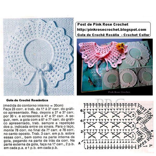 Воротничок для детского платья крючком схема