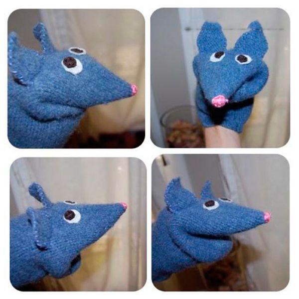 Для создания такой милой мышки нам понадобится: старый свитер, цветные нитки, иголка, ножницы.