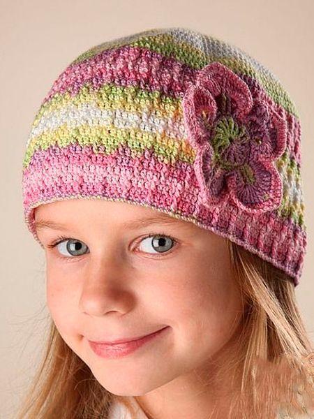 Вязаные весенние детские шапочки — 10 схем